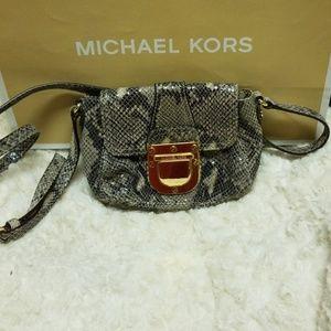 Michael Kors Python leather Crossbody